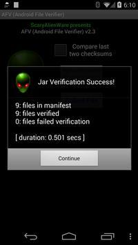 AFV File Verifier for Android™ screenshot 6