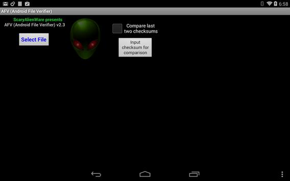 AFV File Verifier for Android™ screenshot 8