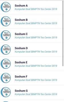 Soal SBMPTN Soshum Saintek 2019 OFFLINE screenshot 1