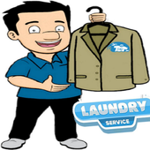 clean laundry service icon