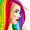 DyeIt: free antistress coloring book for adults أيقونة