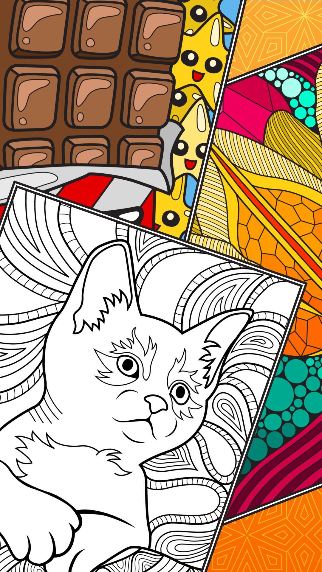 Android Icin Colorsky Yetiskinler Icin Ucretsiz Boyama Kitabi