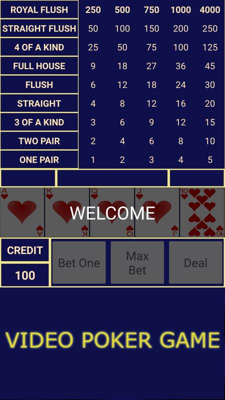 Video Poker Game For Android