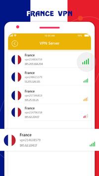 France VPN Private - France Unlimited Free VPN screenshot 1