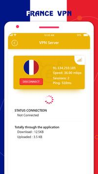 France VPN Private - France Unlimited Free VPN screenshot 3