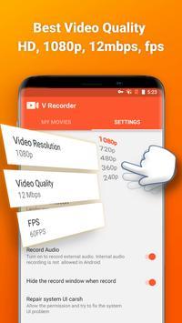 V gravador de tela gravador de áudio imagem de tela 3