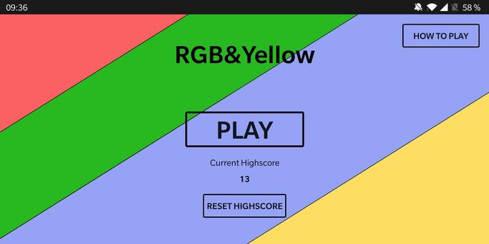 RGB & Yellow poster