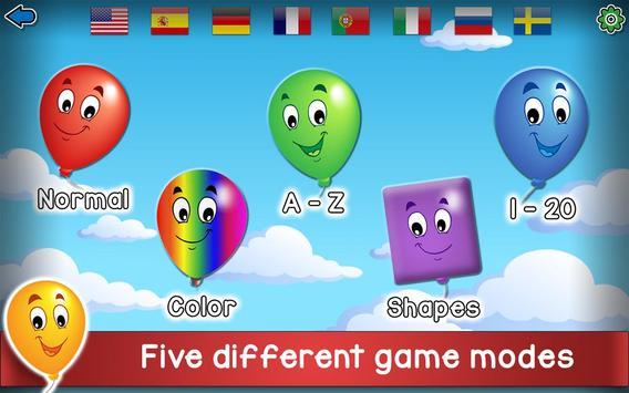 Kids Balloon Pop Game Free 🎈 poster