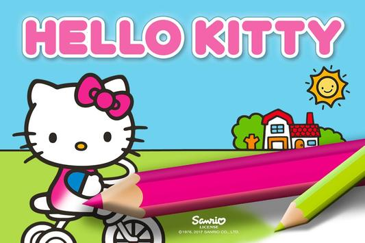Hello Kitty Coloring poster