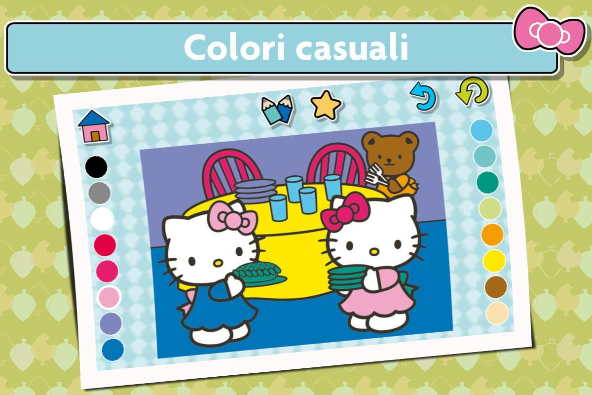 Giochi Hello Kitty Da Colorare.Gioco Da Colorare Di Hello Kitty Disegno For Android Apk Download