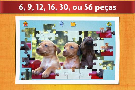 Jogo de Cães Quebra-cabeça - Crianças e adultos 🐶 imagem de tela 2