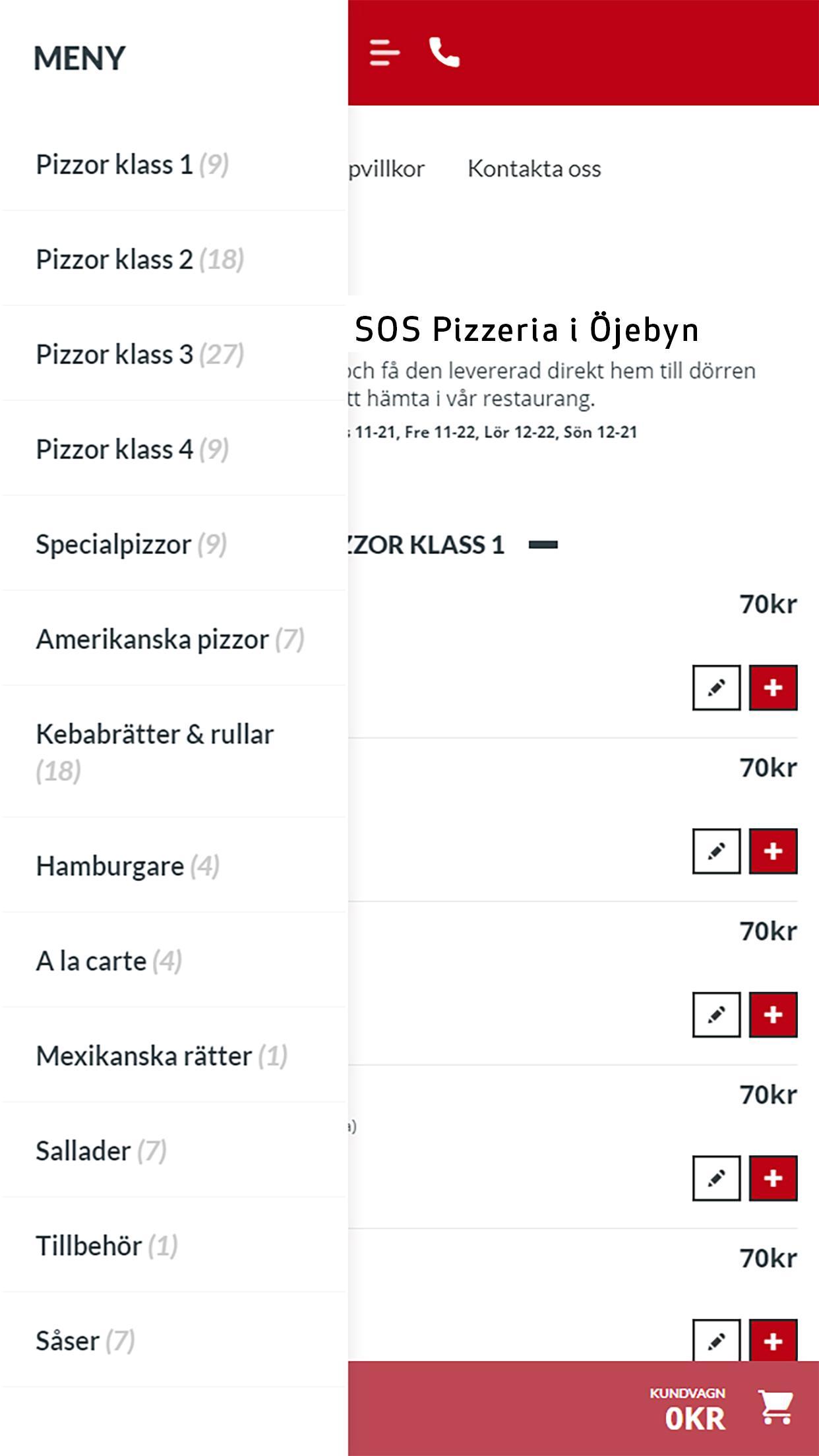 SOS Pizzeria Piteå poster