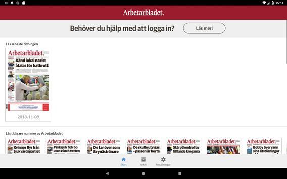 Arbetarbladet e-tidning screenshot 3