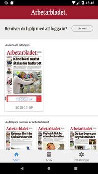 Arbetarbladet e-tidning poster