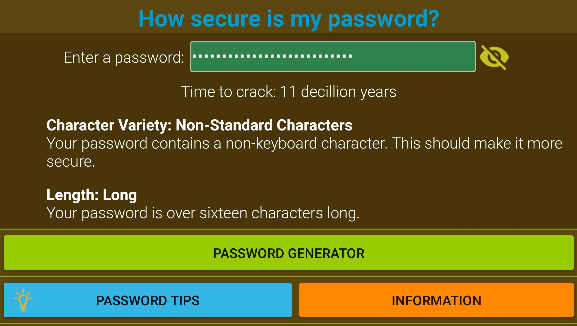 How Secure Is My Password? for Android - APK Download