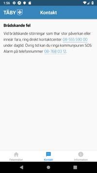 Felanmälan i Täby kommun screenshot 1