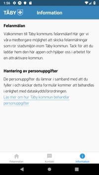 Felanmälan i Täby kommun screenshot 2