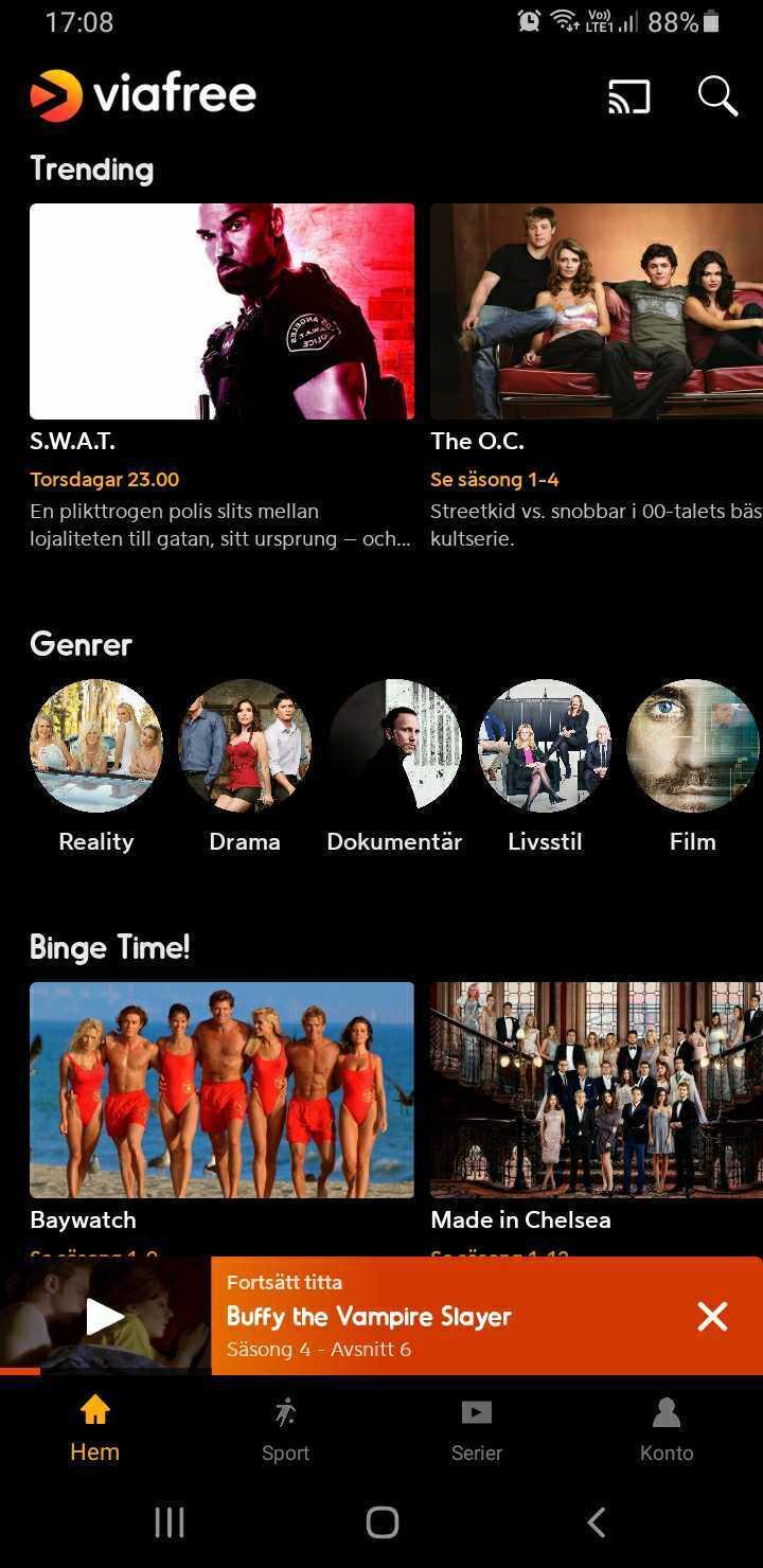 Viafree App Tv