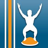 Virtual Trainer Bosu Ball Zeichen