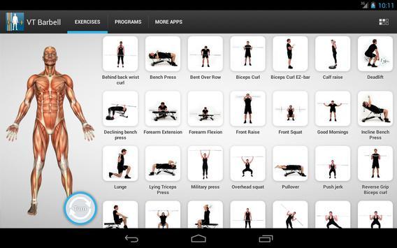 Virtual Trainer Barbell スクリーンショット 17