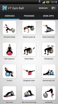 Virtual Trainer Gym Ball ポスター