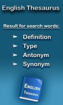 English Thesaurus plakat