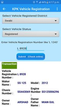 PAK Vehicle Registered Record for Android - APK Download
