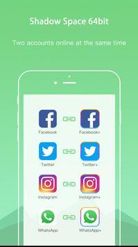 Shadow 64bit - 2 WhatsApp Accounts & Clone App for Android - APK