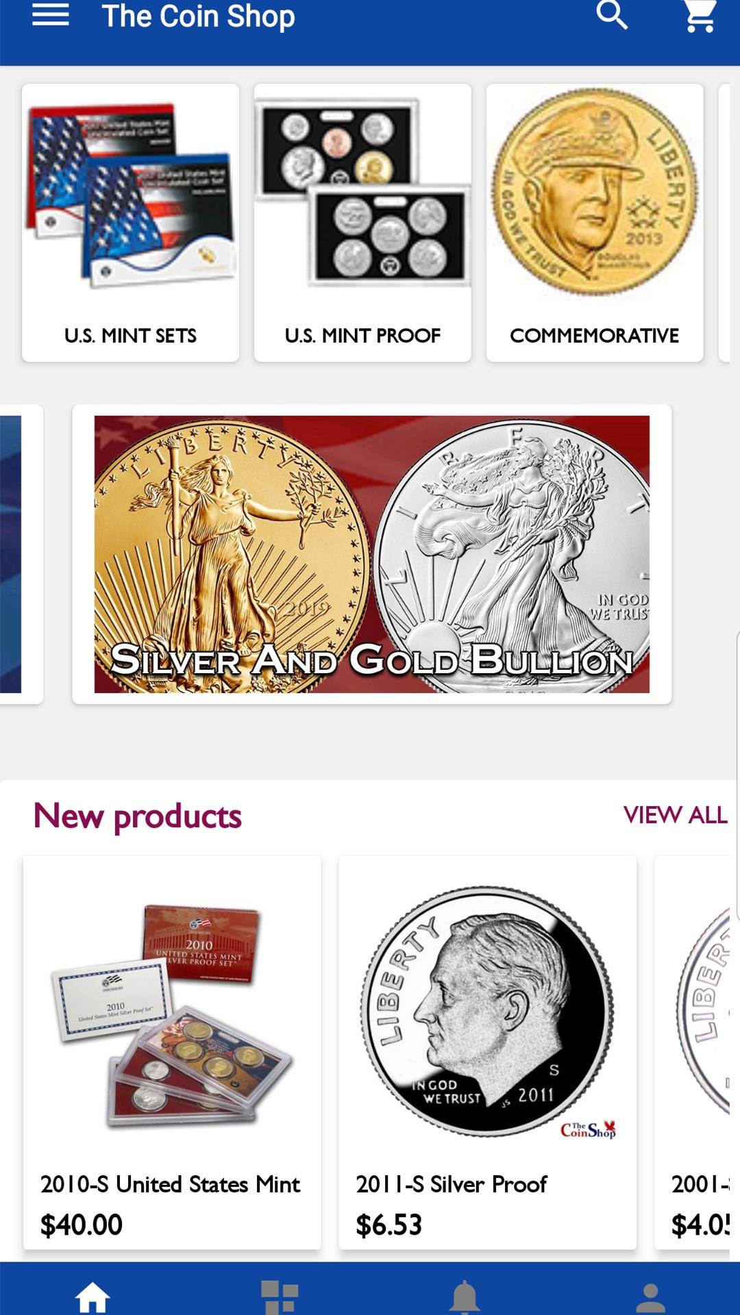 The coin shop online