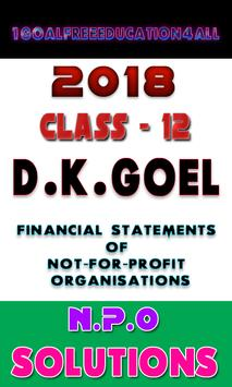 Account Class-12 Solutions (Dk Goel) NPO Solutions poster