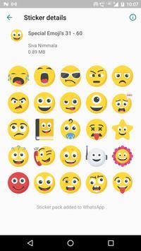 Special Emojis 200 Stickers for WhatsApp screenshot 3