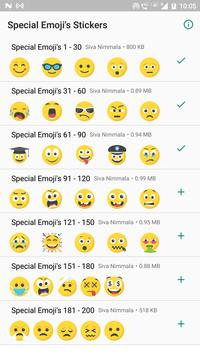 Special Emojis 200 Stickers for WhatsApp poster