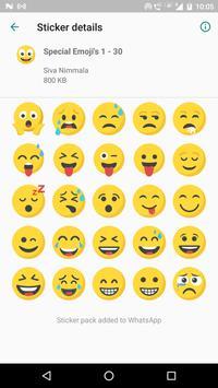 Special Emojis 200 Stickers for WhatsApp screenshot 1