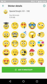 Special Emojis 200 Stickers for WhatsApp screenshot 4