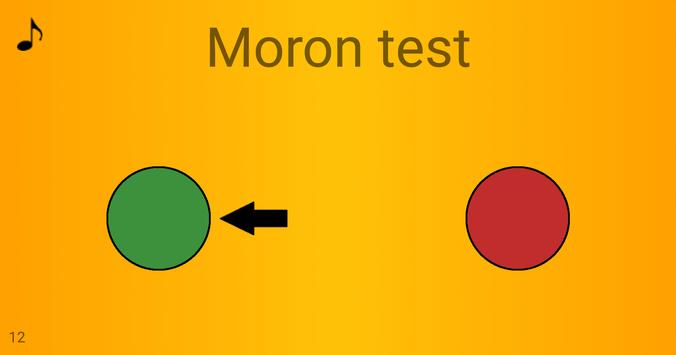 Moron test: Are you an idiot? Show your wits! poster
