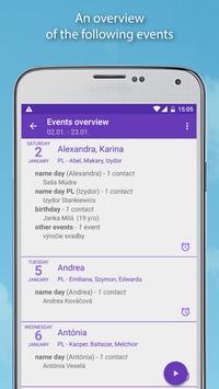 Name days screenshot 2