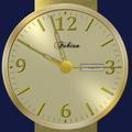 Gold Analog Clock