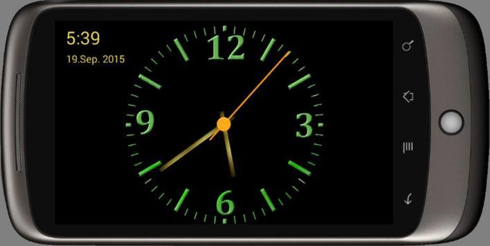 Nice Night Clock with Alarm and Light screenshot 1