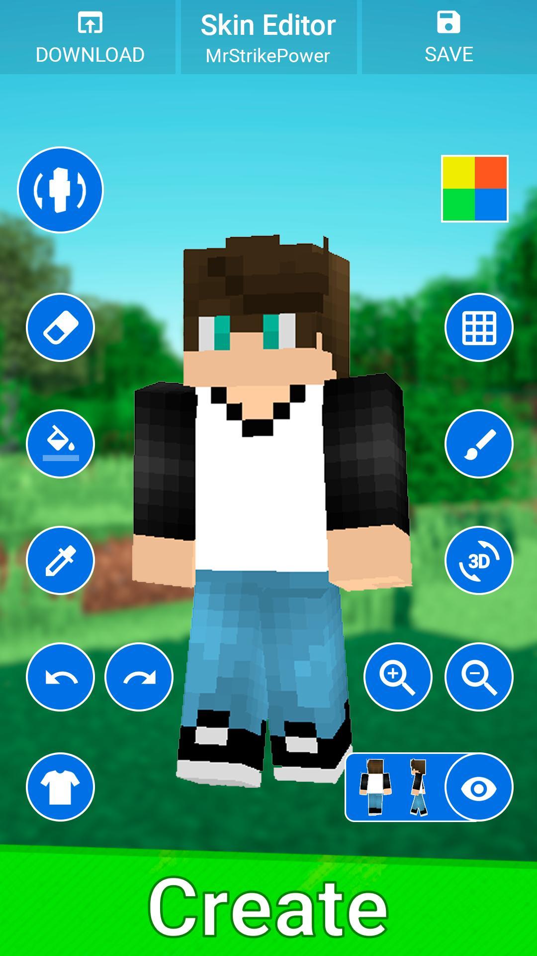 Skin Editor for Minecraft PE - Custom Skin Creator for Android