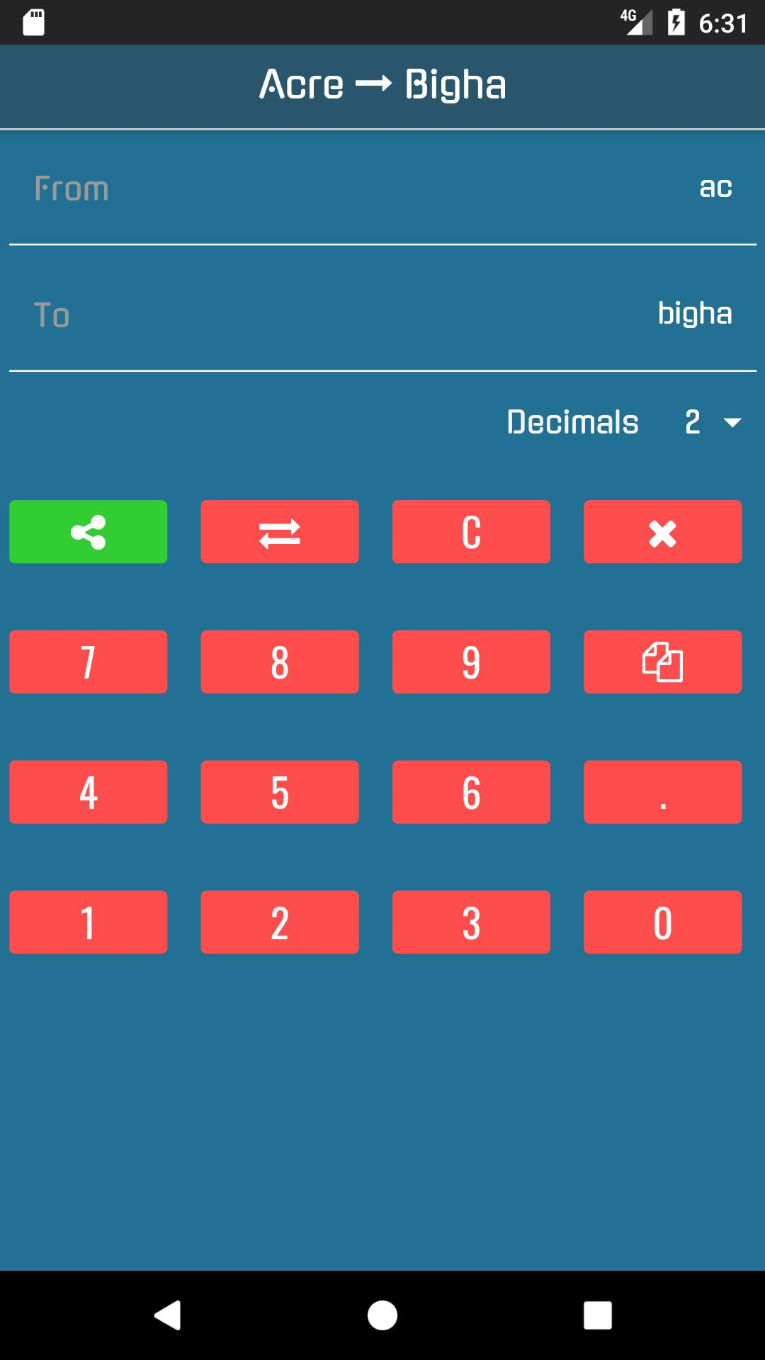 Acre to Bigha Converter for Android - APK Download