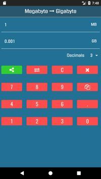 GB to MB Converter screenshot 2