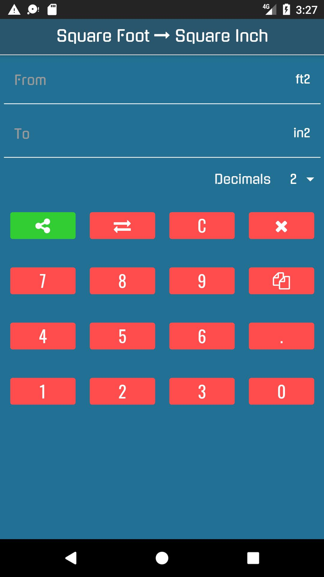 Square Feet to Square Inches Converter for Android - APK