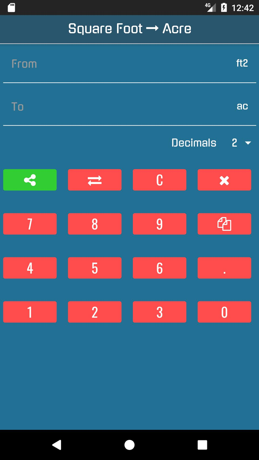 Square Feet To Acres For Android Apk Download