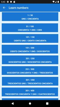 Learn numbers in spanish screenshot 1
