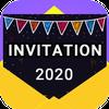 Invitation maker 2020 Birthday & Wedding card Free ikona