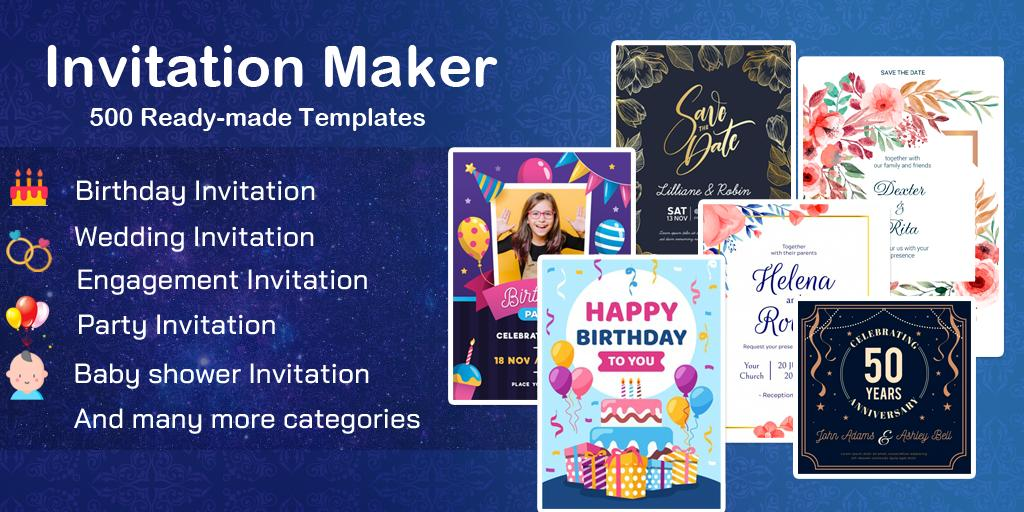 Invitation maker 2020 Free Birthday, Wedding card for Android ...