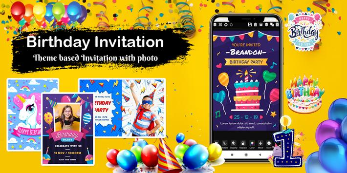 Invitation maker 2020 Free Birthday, Wedding card screenshot 2