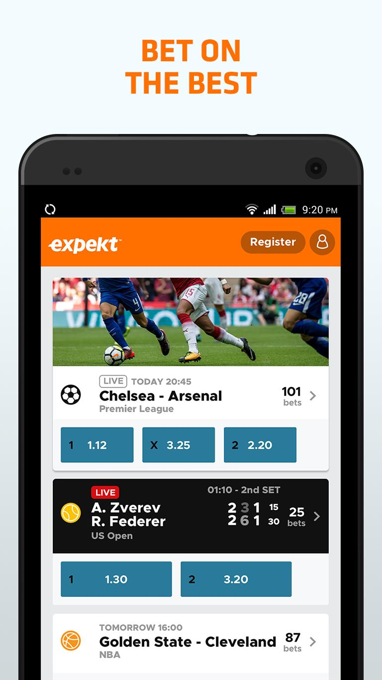 expekt mobile betting games