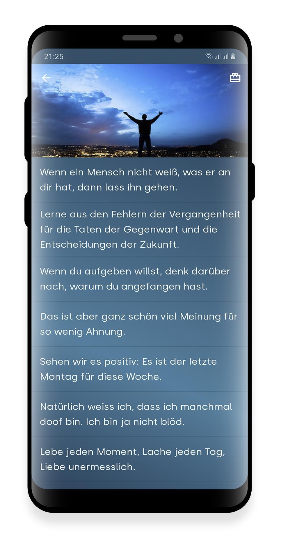 Zitate Sprüche Leben для андроид скачать Apk