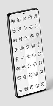 Caelus Black Icon Pack - Black Linear Icons Ekran Görüntüsü 3